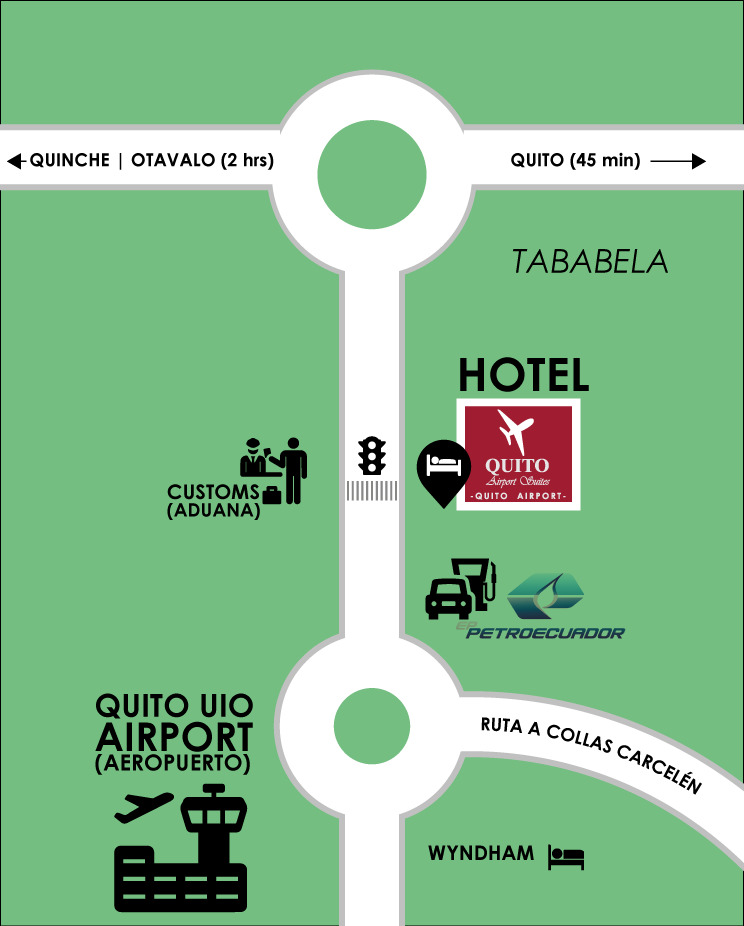 Quito Airport Suites Location